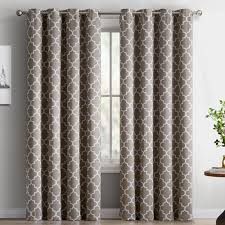 Pattern Drapes Curtains Kuhlmann Lattice Geometric Blackout Thermal Grommet Curtain Panels
