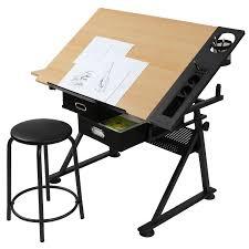 Arbeitstisch Klein Schreibtisch Mit Zeichenfunktion Zeichentisch Bürotisch Atelier