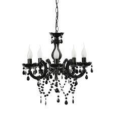 Black Chandelier Lighting by 5 Light Chandelier Black