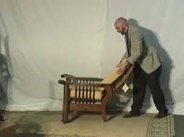 antique tiger oak morris chair youtube