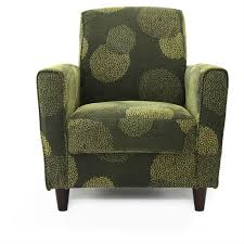 Arm Accent Chair Contemporary Green Fabric Upholstered Flared Arm Accent Chair With