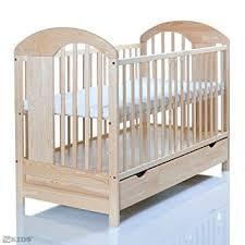 chambre bébé pin massif lit bébé 120x60 massif en pin lasse naturelle avec un grand tiroir