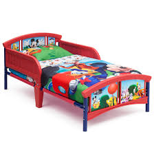 mickey mouse plastic toddler bed walmart
