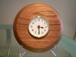 wood turned wall merranti wood turned wall clock ebay
