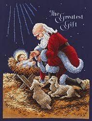 santa kneeling at the manger kneeling santa kit stoney creek online store