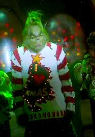 grinch christmas sweater i think the grinch won the best christmas sweater contest gif on