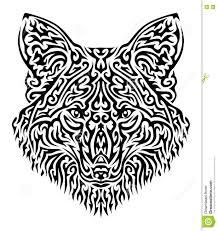 tribal fox vector illustration stock vector illustration of