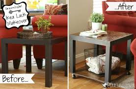 ikea black brown lack side table 15 diy ikea lack table makeovers you can try at home