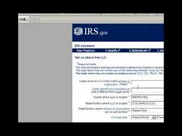 how to get a tax id on the irs website form ss4 youtube