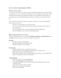 How To Write Resume Cover Letter Examples by Purdue Owl Cover Letter