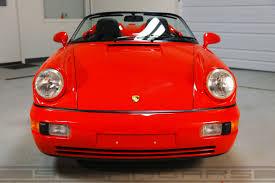 guards red porsche 1994 porsche 964 speedster guards red 10 512 miles sloan cars
