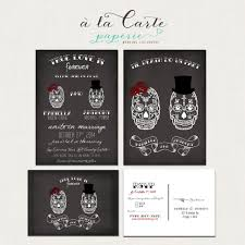 wedding invitations san antonio til death do us part chalkboard inspired calaveras couple