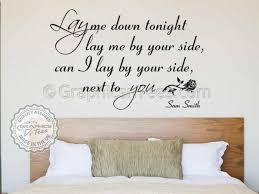 Song Bedroom Sam Smith Lay Me Down Song Lyrics Romantic Bedroom Wall Quote