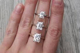 diamond ring cuts emerald vs radiant cut moissanites forever brilliant kristin