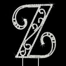 z cake toppers swarovski wedding cake topper letter z