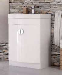 Bow Front Vanity Compact Bow Front White Gloss Bathroom Vanity Unit And Basin