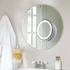 Suction Bathroom Mirror Hm Joseph Wireless 7x Magnification Led Lighted Dimmable Warm