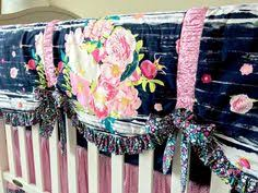 Dahlia Crib Bedding Lavish Flowerful Dandle Seeds Of Dahlia And Pretty Ditsy