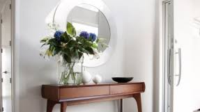 Half Circle Accent Table Half Entry Table Foter