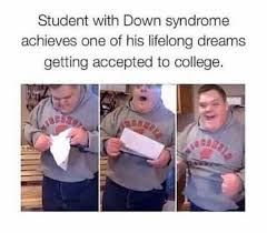 Funny Down Syndrome Memes - lots of respect for this kid chromosome internet meme kyle