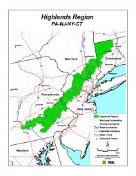 Map Of Pennsylvania Cities by Highlands Of Connecticut New Jersey New York And Pennsylvania