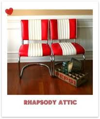 Retro Red Kitchen Chairs - diner furniture commercial grade restaurant kitchen seating the