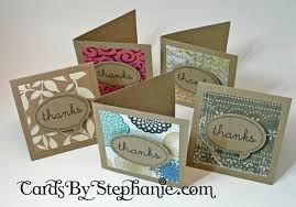 tiny thank you cards from scrap paper cards by
