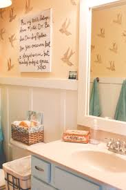 Kids Bathroom Ideas For Boys And Girls by Stenciled Bird Kids U0027 Bathroom Our Storied Home