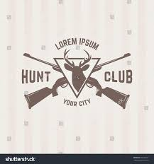 hunting club isolated vector emblem template stock vector