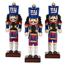 new york giants nutcracker ornaments 3pk nfl football