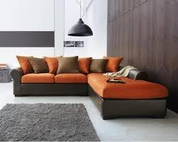 canapé marron photos canapé marron et orange