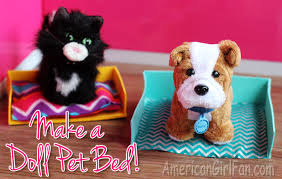 How To Make A Dog Bed Doll Craft How To Make A Pet Bed Americangirlfan