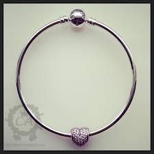 heart charm bangle bracelet images Pandora bangle review featuring the le circle of love charms addict jpg