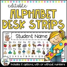 student name tags for desks alphabet desk strips with number line student name tags editable