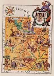 Utah travel art images 46 best utah maps images utah antique maps and jpg