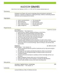 Cosmetology Resume Template Salon Manager Description Unforgettable Salon Manager Resume