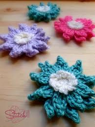 Crochet Designs Flowers 214 Best Crochet Flowers And Other Small Motifs Images On