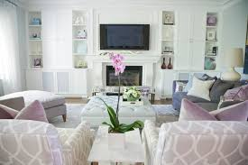 White Side Tables For Living Room How To Decorate Built In Shelves In Living Room Living Room