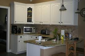 Painted White Oak Kitchen Cabinets Painting Inside Design - Painted wooden kitchen cabinets
