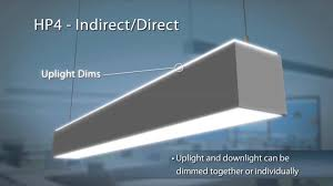 the hp4 indirect direct led linear suspended office lighting