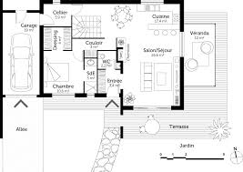 plan de maison avec cuisine ouverte plan de maison en u ouvert great gorgeous plan maison en u modles