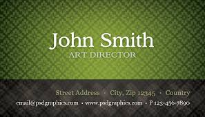 green business card template with seamless pattern psdgraphics