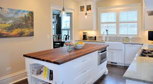 alder wood saddle raised door top kitchen island backsplash