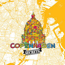 Copenhagen Map Copenhagen Travel Secrets Art Map For Mapping Experts And Travel