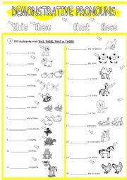 english worksheets demonstrative pronouns worksheets page 1