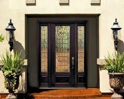 Fiberglass Exterior Doors With Glass 1 Panel 3 4 Lite Palacio Fiberglass Entry Door With Side Lights