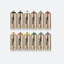 montana gold line 12 can street art color set montana spray