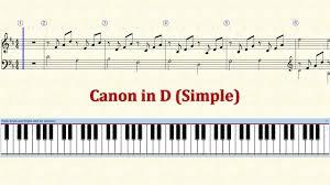tutorial piano canon piano tutorial sheet canon in d simple hd youtube