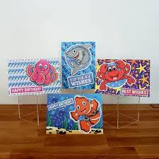 cute under the sea characters 3d cards conscious crafties