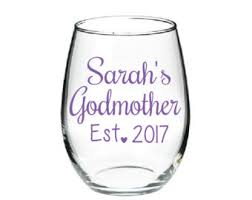 godmother wine glass godmother wine glass etsy
